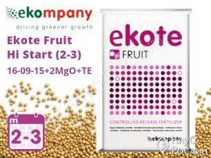 Добриво Ekote Fruit Hi Start 16-09-15+2MgO+TE (2-3 місяці), 25 кг